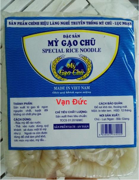 Giới thiệu về Đặc sản Mỳ Gạo Chũ